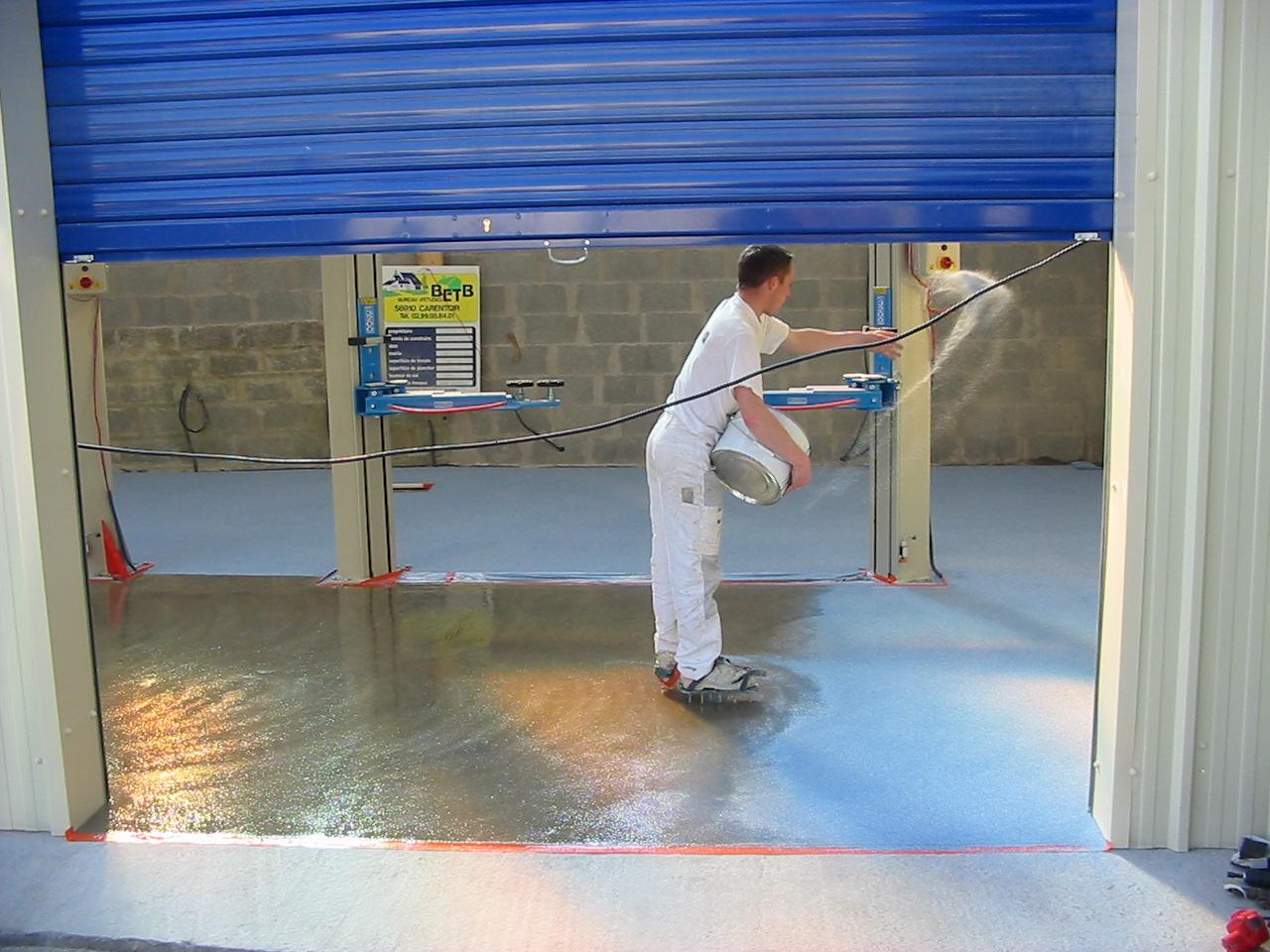 Bretagne résine: sol résine dans un garage