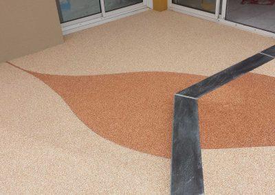 bretagne résine: revêtement moquette de pierre extérieur- particulier