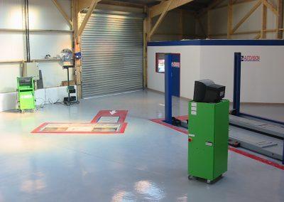 Bretagne résine: sol résine dans un garage, Controle technique Bain de Bretagne 005