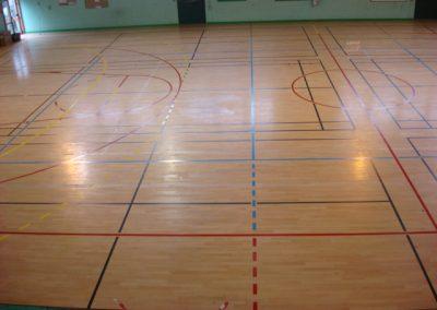 bretagne résine: marquage au sol, salle de sport
